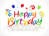 abstract happy birthday text