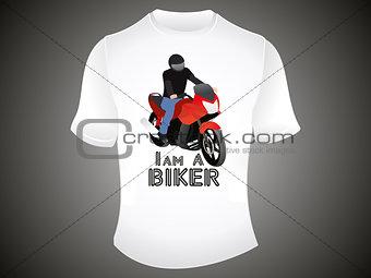 abstract i am a biker tshirt template