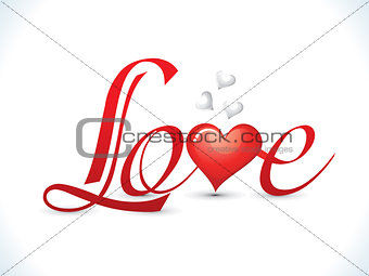 abstract love text