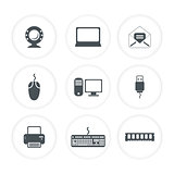 abstract multiple computer icon template