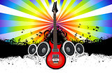 abstract musical guitar