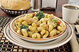 Chicken on cavatappi pasta