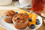 Bran muffins with fruit