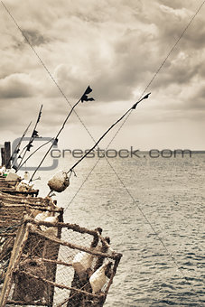 Fishing Rods on a Pier