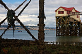 Mumbles Lifeboat house and pier legs