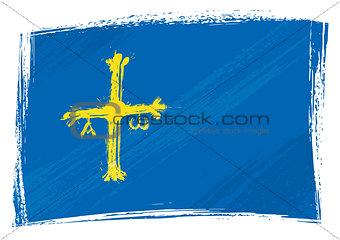 Grunge Asturias flag