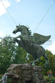 Fountain in Mirabell Gardens in Salzburg