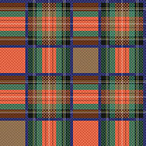 Checkered tartan fabric seamless texture