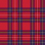Checkered tartan fabric seamless pattern