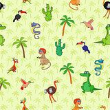 Seamless various animal pattern