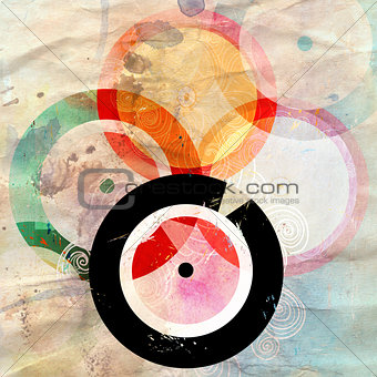 abstract background with music records