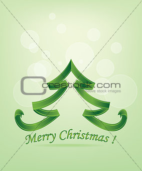Abstract Green Christmas Tree
