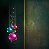 Abstract grunge celebration background with Christmas decoration