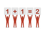 Men holding the simple math.