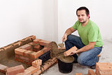 Building a brick stove