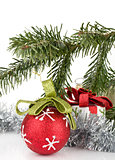 Christmas decor with fir tree