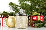 Christmas decor with fir tree
