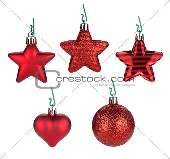 Christmas baubles and decor