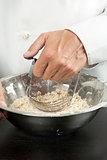 Chef Prepares Pastry, Close