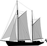 Two masted ketch