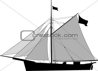 Cutter, sailing cargo vessel