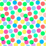 Confetti pattern candy colors, vector Eps10 illustration.