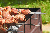 Preparation of shish kebab