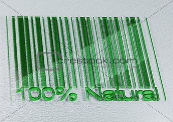 100 percent Natural barcodes