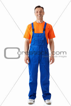 Man in overalls
