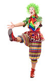 Funny posing female clown