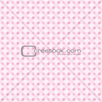 Seamless vector pattern or background in pastel baby pink grid texture