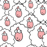 funny sheep pattern