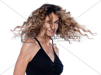 Beautiful expressive curly hair Woman