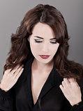 Fashion portrait of sensuous woman