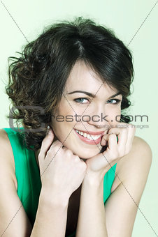 cute brunette young woman portrait