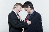 two friends men dispute conflict