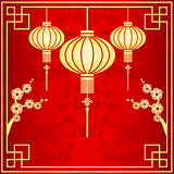 Oriental Chinese Lantern Illustration