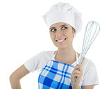 Woman Cook with Egg Beater