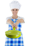 Woman Cook with Pan