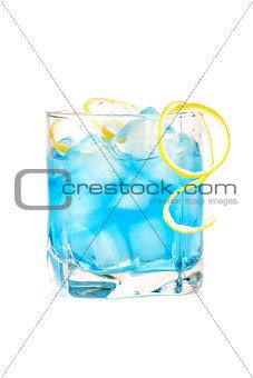 Blue alcohol cocktail