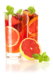 Cocktail collection: Refreshing fruit sangria (punch)