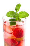 Cocktail collection: Strawberry mojito with mint