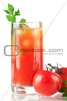 Blood mary alcohol cocktail