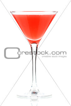 Alcohol cocktail with orange juice and grenadine