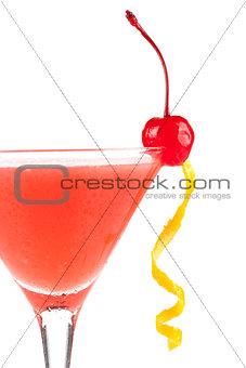 Alcohol cocktail with orange juice and grenadine