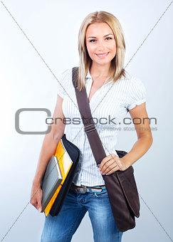 Beautiful student girl
