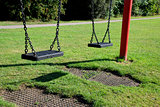 Two empty swings