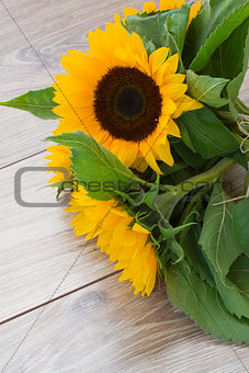 fresh bouquet of sunflowers