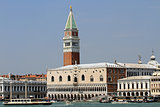 high Bell Tower of San Marco and the glorious  Palazzo ducale 1