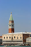 high Bell Tower of San Marco and the glorious  Palazzo ducale 2